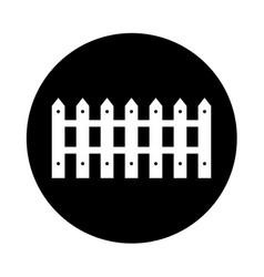 Farm fence isolated icon vector