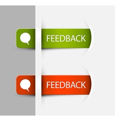 Feedback Labels Stickers vector image vector image