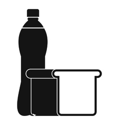 Food icon simple style vector