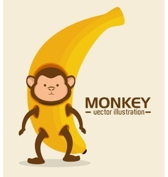 Funny monkey design vector