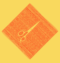 hair cutting scissors sign red scribble vector image vector image