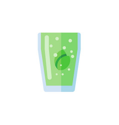 Isolated fizzy drink flat icon cup element vector
