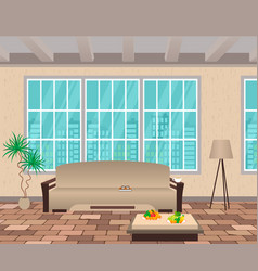 Living room interior modern design of domestic vector