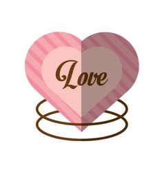 Love decorative card cute heat shadow vector