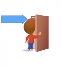 men visitors vector image vector image