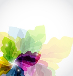 Modern transparent floral background vector image vector image