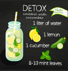 Recipe detox cocktail vector
