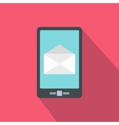 Smartphone with email sign on the screen icon vector image
