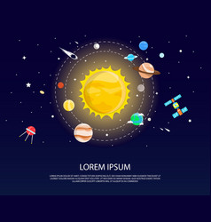 Solar system and planets graphic and design vector