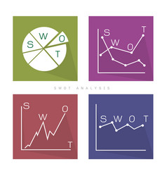 swot analysis strategy management chat for busines vector image vector image