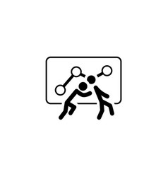 Teamwork icon flat design vector