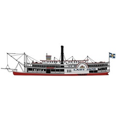 Historical steam riverboat vector