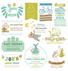 Baby Arrival and Shower Collection vector image