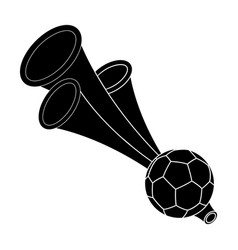 trumpet football fanfans single icon in black vector image