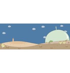 Cute Mars Settlement vector image