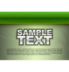 Template green stripe big text vector