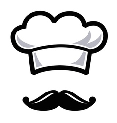 hat with mustache vector image