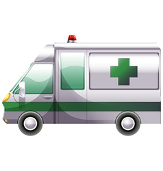 A hospital ambulance vector