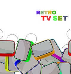 Colorful retro tv set isolated vector