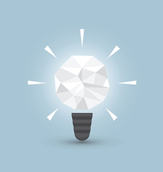 Crumpled paper light bulb idea concept vector