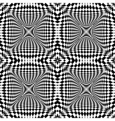 Design seamless monochrome checkered pattern vector