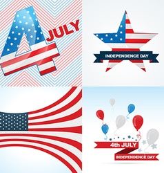Collection of american independence day background vector