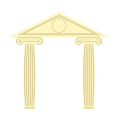 Greek portico greek temple two column and roof vector