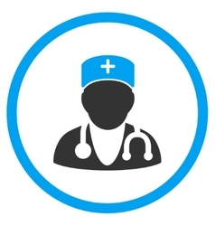 Physician rounded icon vector