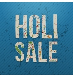 Holi sale realistic banner with color stains vector