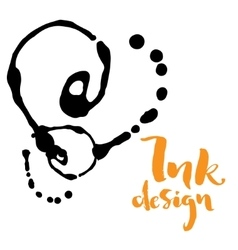Ink stains design vector