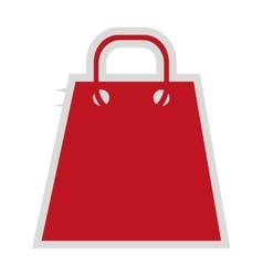 Red shopping bag icon vector