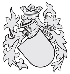 aristocratic emblem No38 vector image vector image