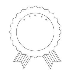 Award ribbon blank vector