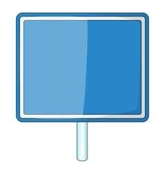 Blank blue road sign icon cartoon style vector
