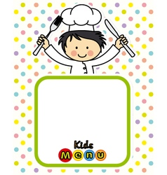 boy chef vector image vector image