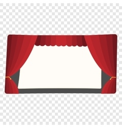 Cartoon theater stage vector