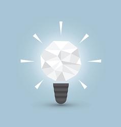 Crumpled paper light bulb Idea concept vector image vector image