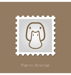 Duck stamp animal head vector