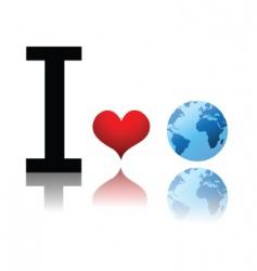 earth love vector image vector image