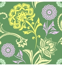 Ethnic Floral Seamless Pattern11 vector image vector image