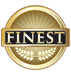 Finest Pure Gold Label vector image vector image