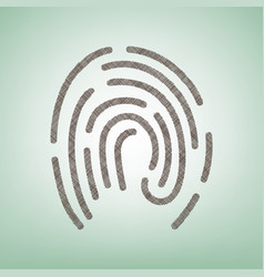 Fingerprint sign brown flax vector