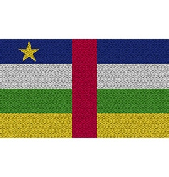 Flags central african republic on denim texture vector