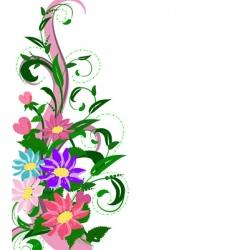 flowers hollyhocks vector image