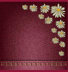 flowers sewn vector image