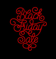 Holiday gift card with hand lettering black friday vector