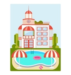 house with pool vector image vector image