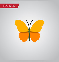 Isolated danaus plexippus flat icon butterfly vector