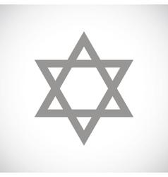Judaism black icon vector
