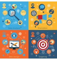 Modern web concepts set vector image vector image